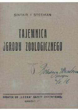 Tajemnica ogrodu zoologicznego,1930r.