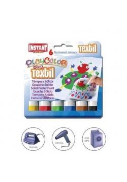 Farby w sztyfcie Textil 6 kolorów PLAYCOLOR