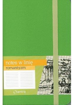 Notes A6 Linia Romantyzm Zielony ANTRA
