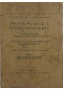 Postanowienie administracyjne, 1949 r.