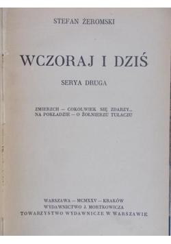 Wczoraj i dziś, serya druga, 1925 r.