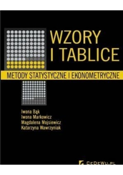 Wzory i tablice. Metody statystyczne i ekonometr.