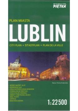 Lublin 1:22 500 plan miasta PIĘTKA