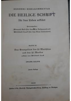 Die Heilige schrift, 1939 r.