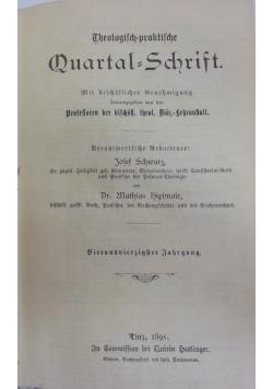 Quartal - Schrift, 1891 r.