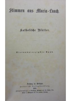 Stimmen aus Maria-Laach: katholische Blätter, 1893 r.