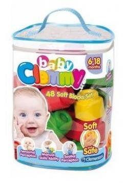 Clemmy Baby. Woreczek z 48 klockami