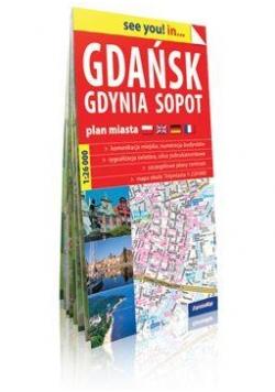 Euromapa Gdańsk,Gdynia,Sopot 1:26 000 plan miasta