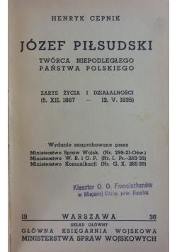 Józef Piłsudski , 1936r.