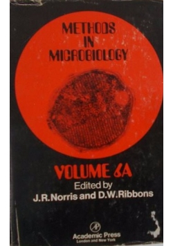 Methods in Microbiology volume 6 a