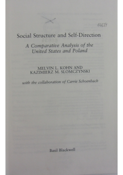 Social Structure and Self-Direction
