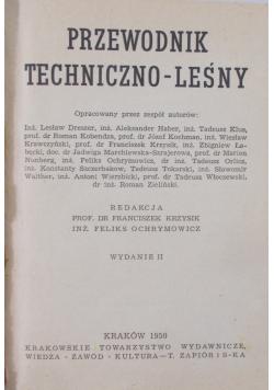 Przewodnik techniczno-leśny, 1950 r.