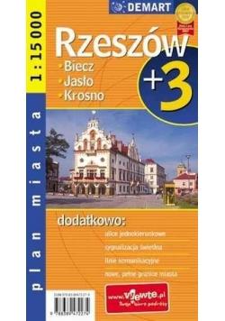 Plan Miasta Rzeszów plus 3  DEMART w.2016