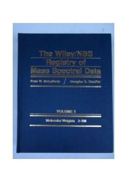 The Wiley/NBS Registry of Mass Spectral Data, Vol. I
