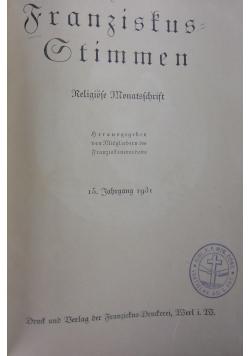 Franziskus Stimmen 15, 1931 r.