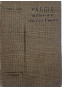 Precis de l'histoire de la litterature francaise
