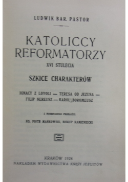 Katoliccy reformatorzy, 1924 r.