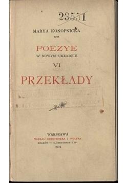 Poezye VI przekłady, 1904r.