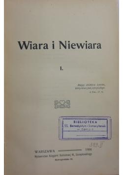 Wiara i niewiara, 1930 r.
