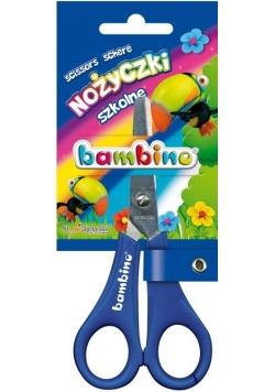 Nożyczki szkolne z podziałką bls BAMBINO