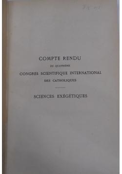 Compte rendu du quatrieme congres scientifique international des catholiques, 1898 r.