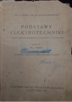 Podstawy elektrotechniki cz. II, 1947r