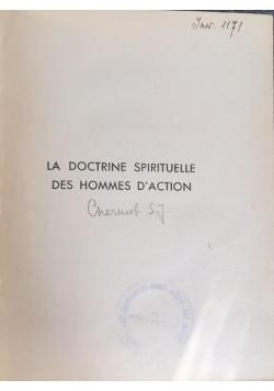 La doctrine spirituelle des hommes D'action, 1938 r.
