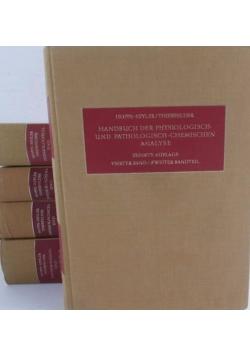Handbuch der Physiologisch und Pathologisch - zestaw 5 książek