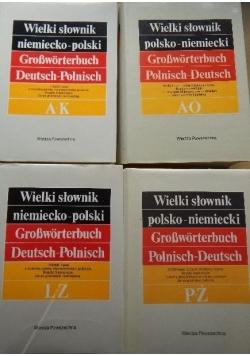 Wielki słownik niemiecko-polski, 4 tomy