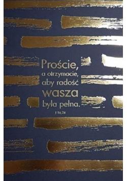 Mój dziennik - złocony granatowy - Proście...