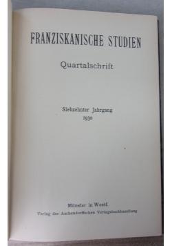 Franziskanische Studien, 1930 r.