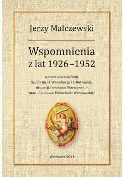 Wspomnienia z lat 1926-1952