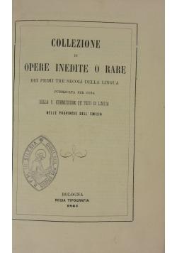 Collezione di opere inedite o rare, 1867 r.