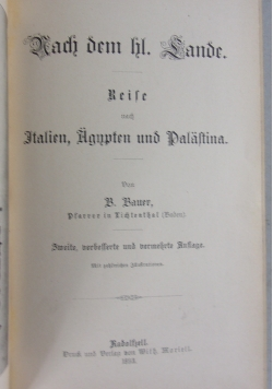 Nach dem hl. Sande, 1893r.