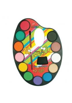 Farbki akwarelowe 12 kolorów EASY
