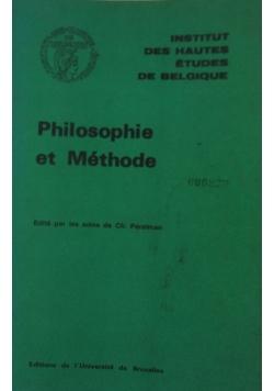 Philosophie et Methode