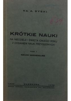 Krótkie nauki, 1932 r.