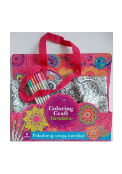 Coloring Craft. Torebka metaliczna shopper