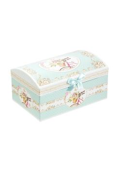 """Kolekcja """"Letnia Wyprawa"""", pudełeczko na biżuterię z lusterkiem"""