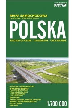 Polska 2017 mapa samochodowa 1: 700 000