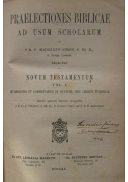 Praelectiones Biblicae ad Usum Scholarum, 1930 r.