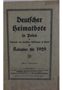 Deutscher Heimatbote in Polen, 1929 r.
