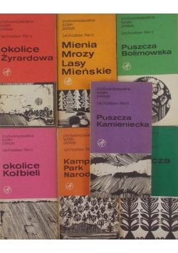 Podwarszawskie szlaki piesze, zestaw 7 książek