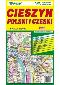 Cieszyn Polski i Czeski 1:9 000 plan miasta PIĘTKA