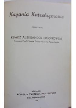 Kazania Katechizmowe, 1948 r.