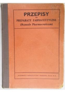Przepisy na preparaty farmaceutyczne, 1922 r.