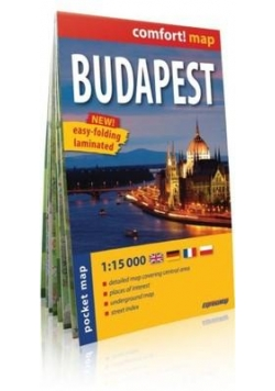 Comfort! map Budapest pocket map 1:15 000