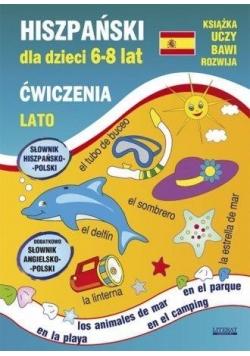 Hiszpański dla dzieci 6-8 lat. Ćwiczenia. Lato