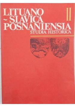 Lituano-Slavica Posnaniensia. Studia Historica II