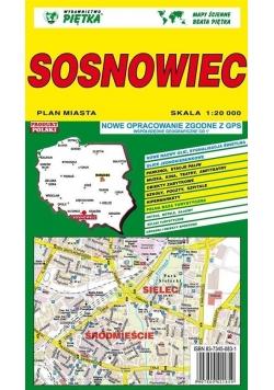 Sosnowiec 1:20 000 plan miasta PIĘTKA